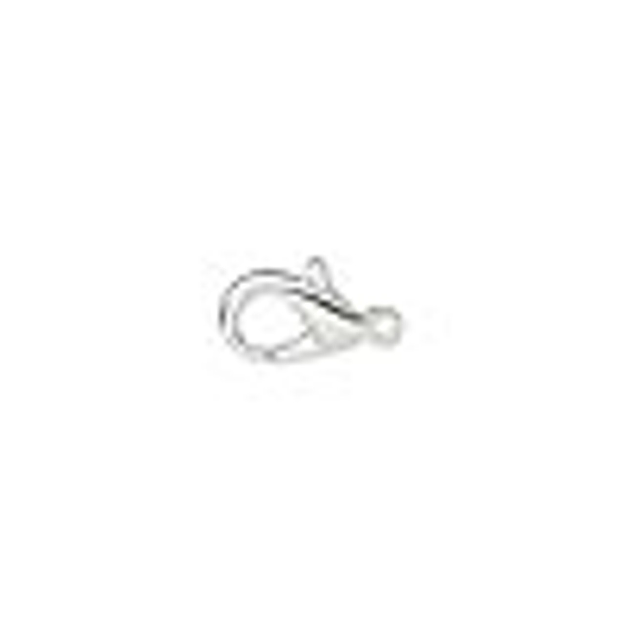 10x6mm Silver Plated Lobster Claw (6 Ct.)
