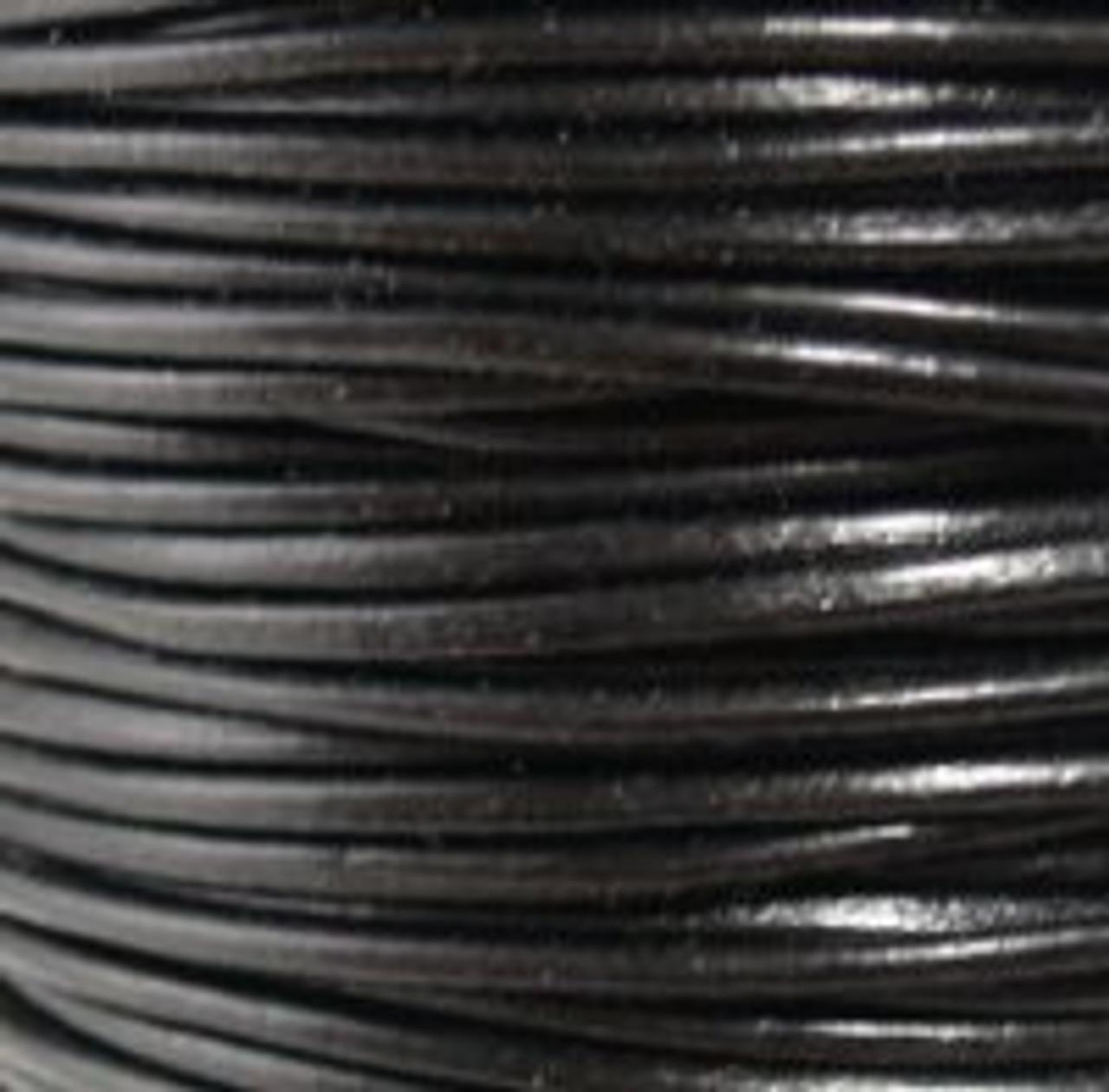 1.5mm Black Leather (2 Meters)