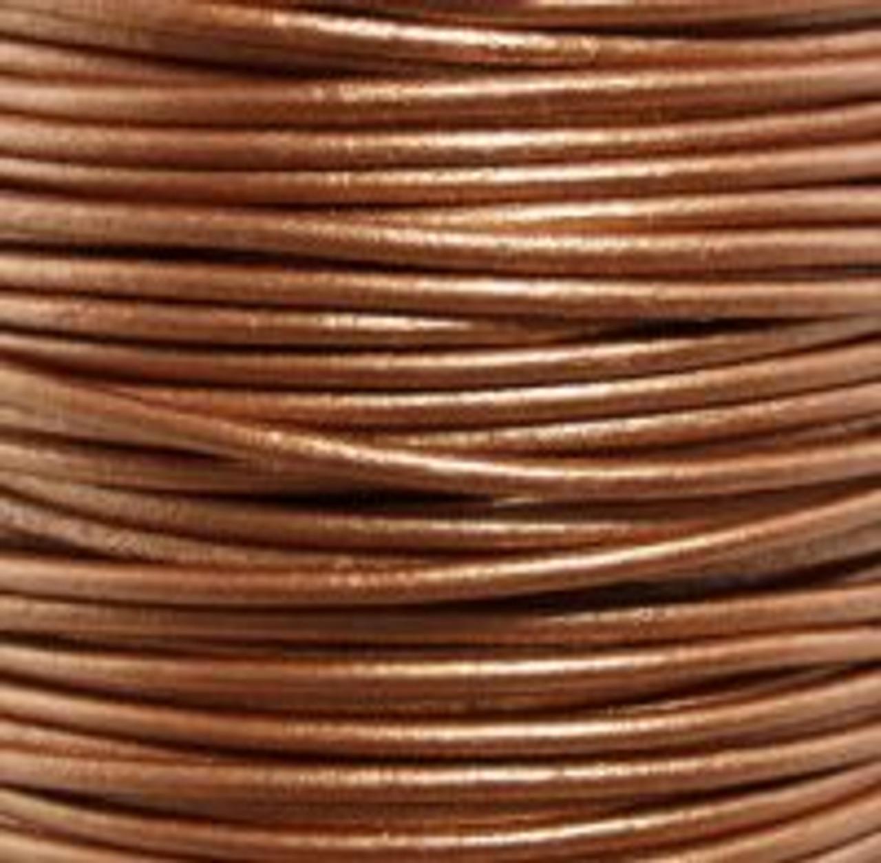 1.5mm Metallic Bronze Leather (2 Meters)