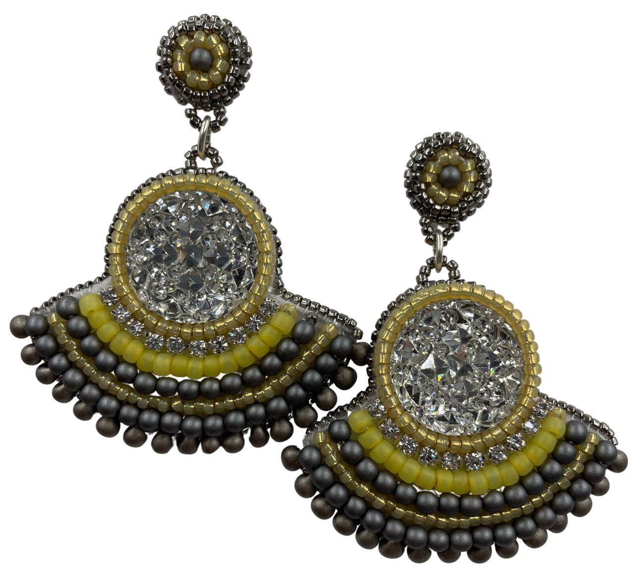 Yellow & Grey Poppin Paparazzi Earring Kit
