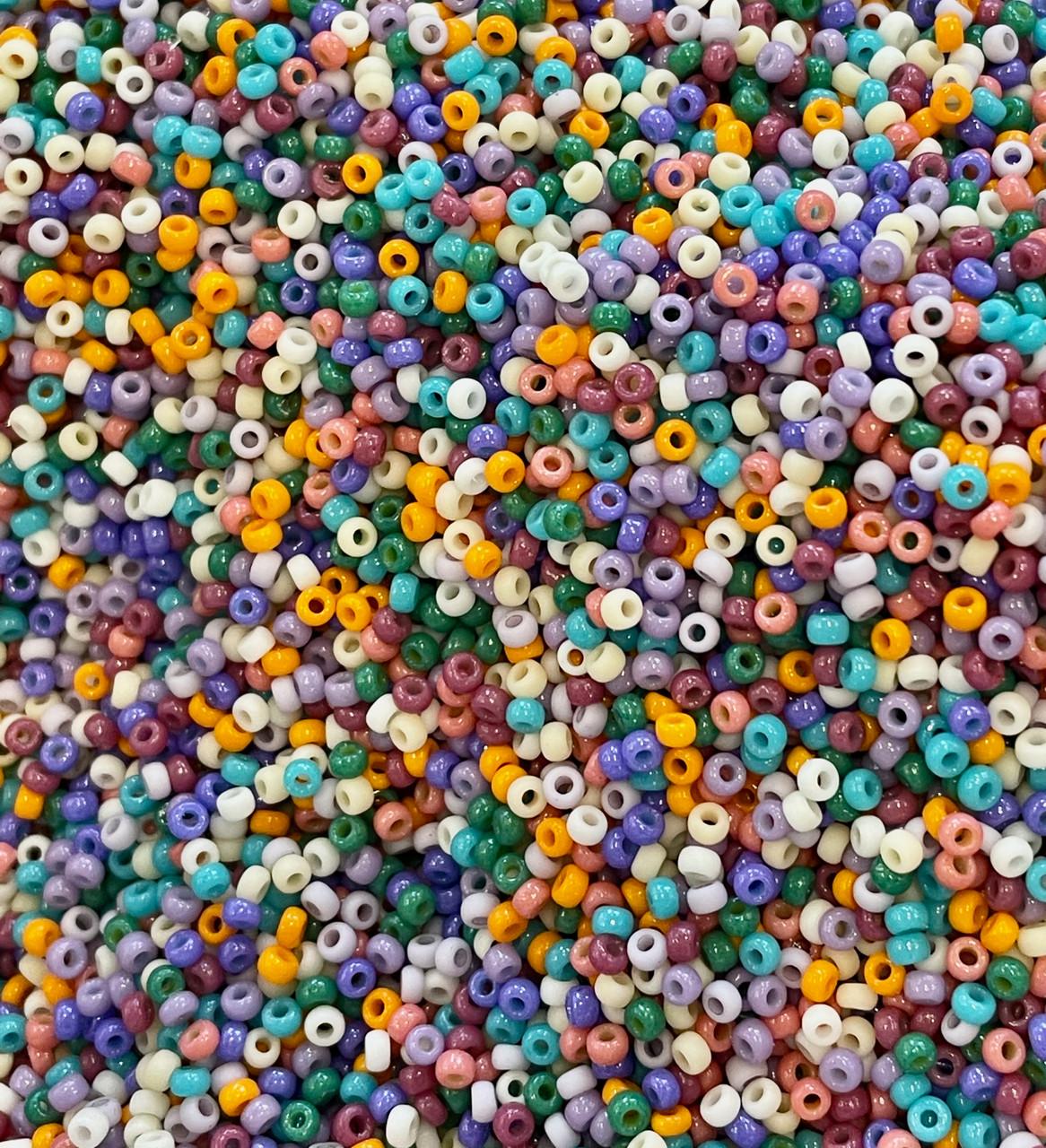 11/0 Spring Harvest Miyuki Seed Bead Mix for Confetti Earrings