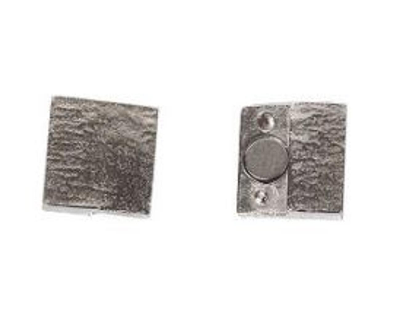 15x2.5mm Glu-N-Go Magnetic Rhodium Clasp (1 Piece)