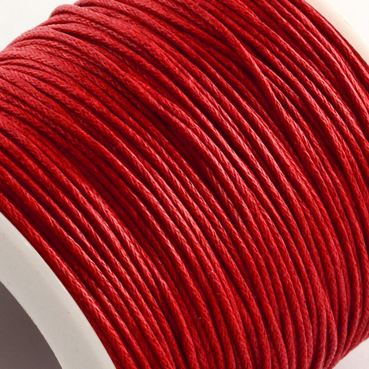 1mm Red Waxed Cotton Cord (5yds)