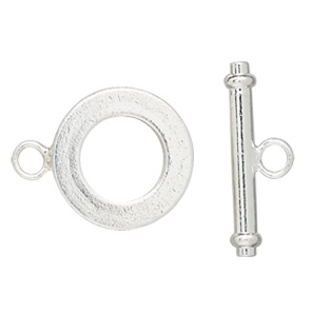 Silver Plated Thick Round Toggle (2 Sets)