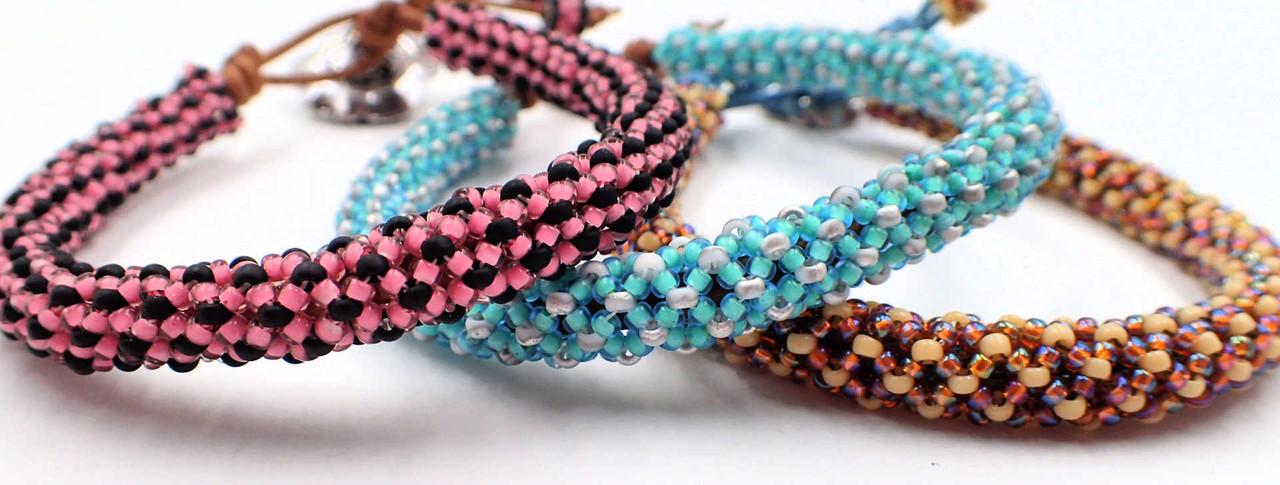 Pink & Black Java Bangle Bracelet Kit