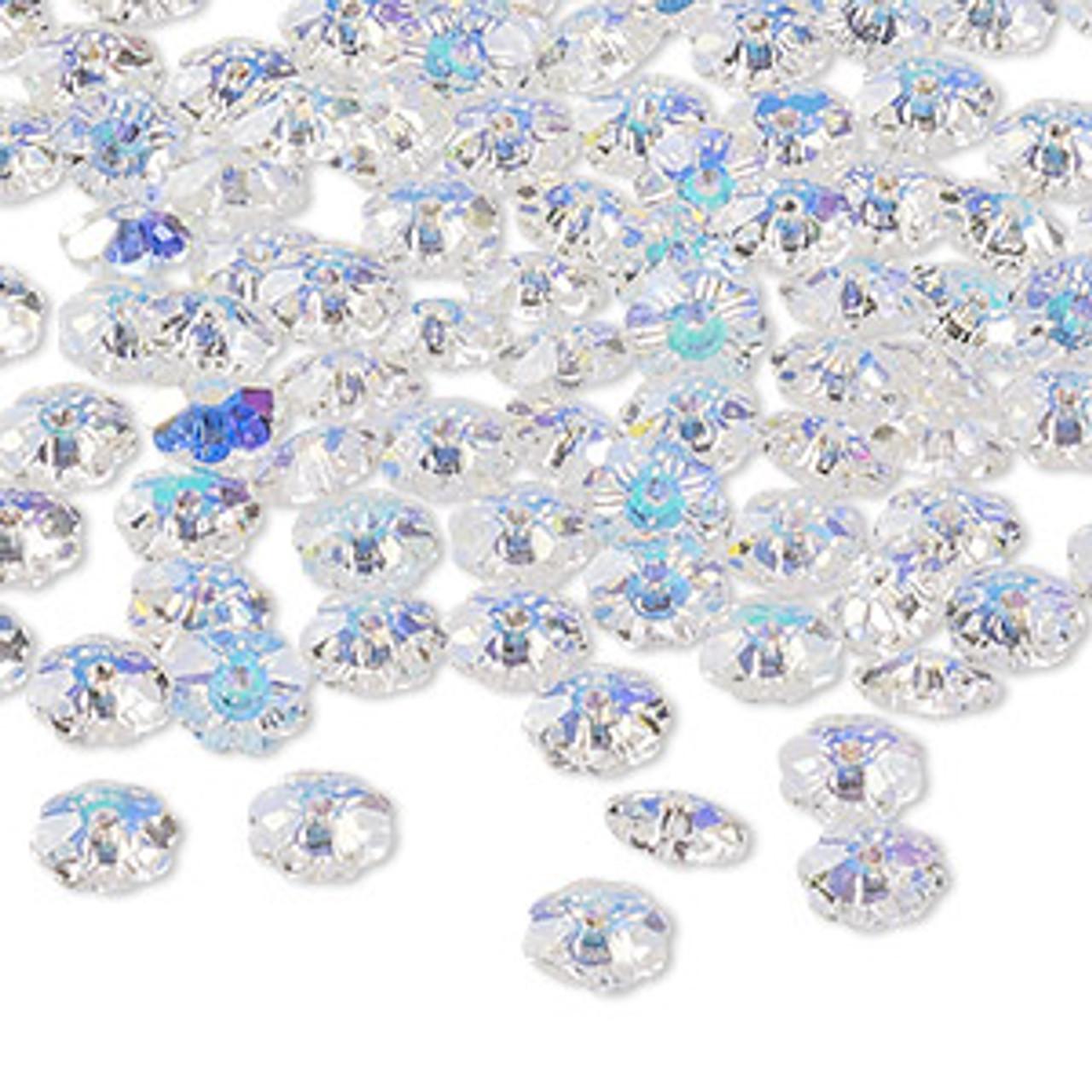6mm Crystal AB Preciosa Loch Flower Bead (6pk)
