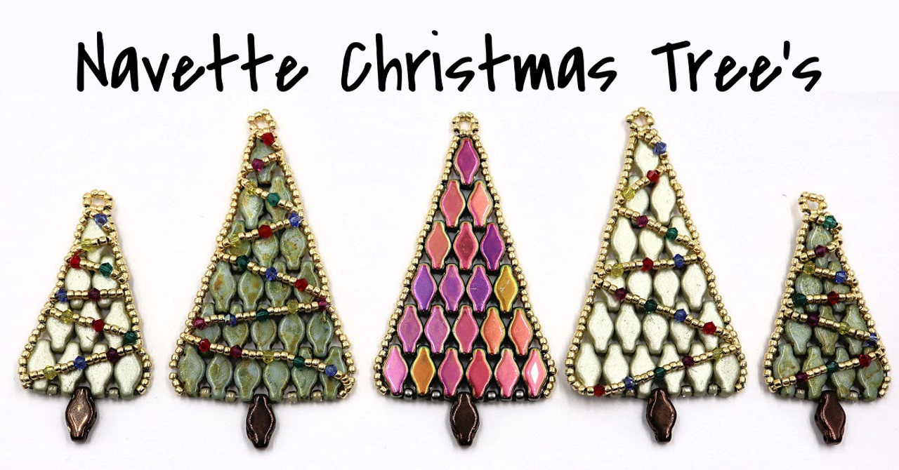 Small Navette Christmas Tree PRINTED Pattern - Mailed to your home