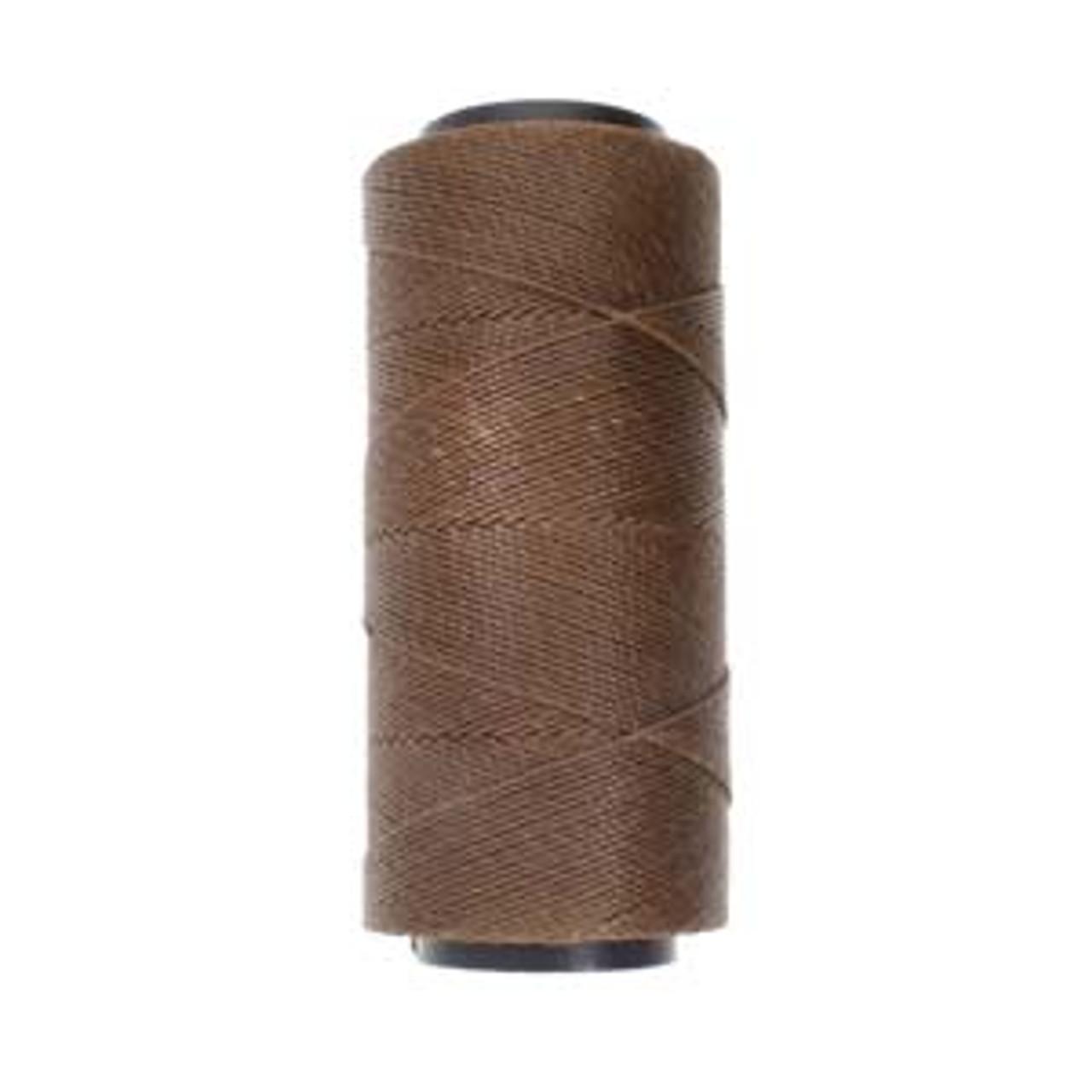 6yds 2 ply Brown Waxed Brazilian Cord