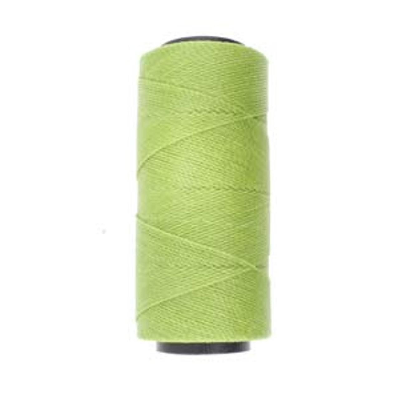 6yds 2 ply Lime Waxed Brazilian Cord