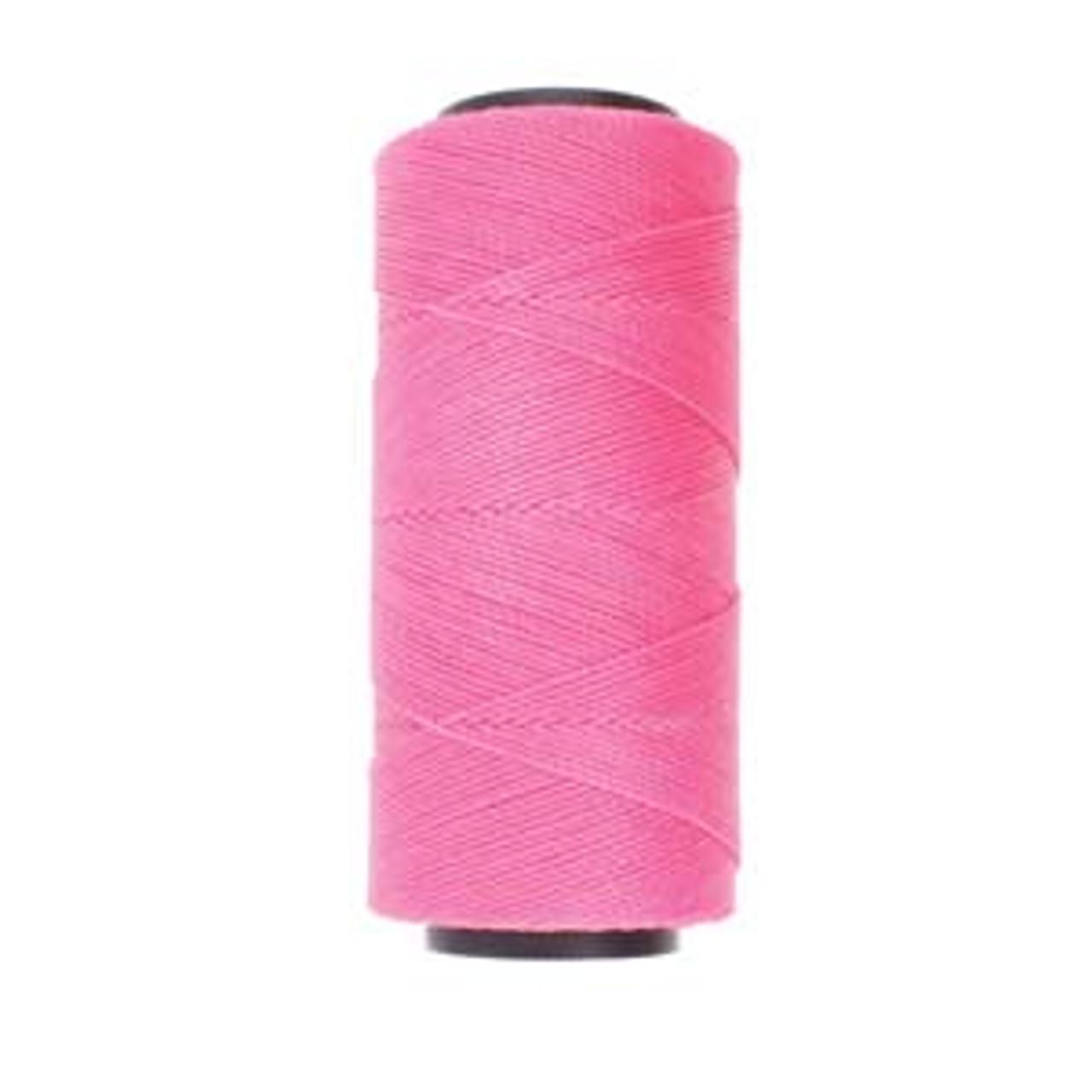 144yds 2 ply Pink Waxed Brazilian Cord