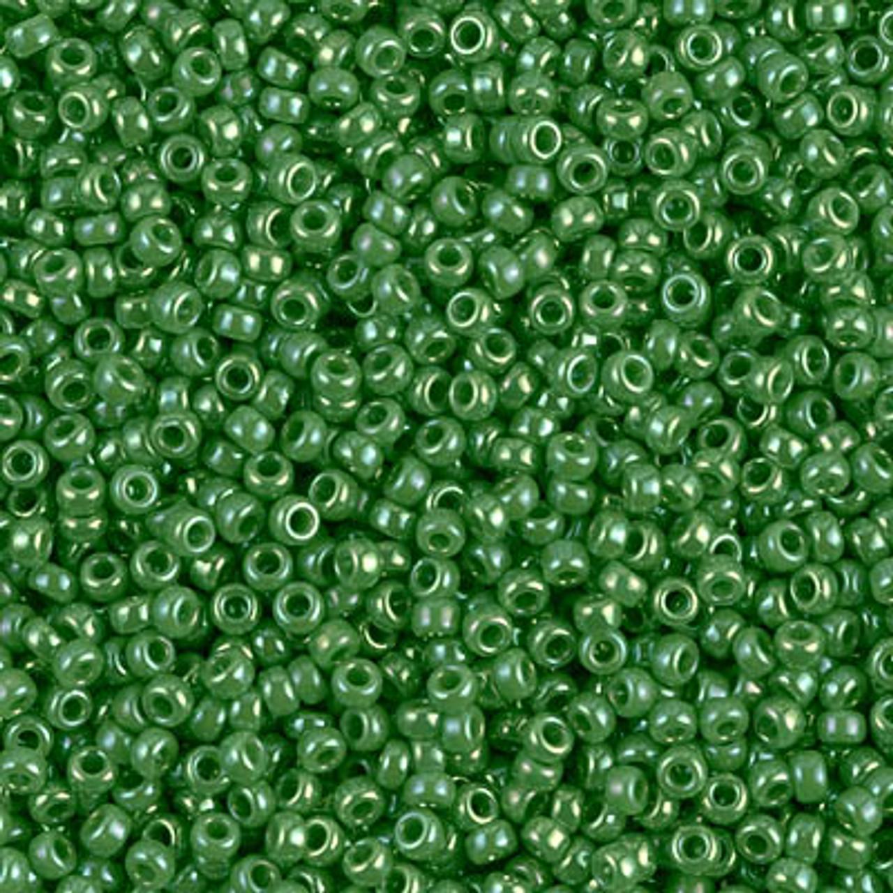 11/0 Opaque Green AB Miyuki Seed Beads (20 Grams) 11-480
