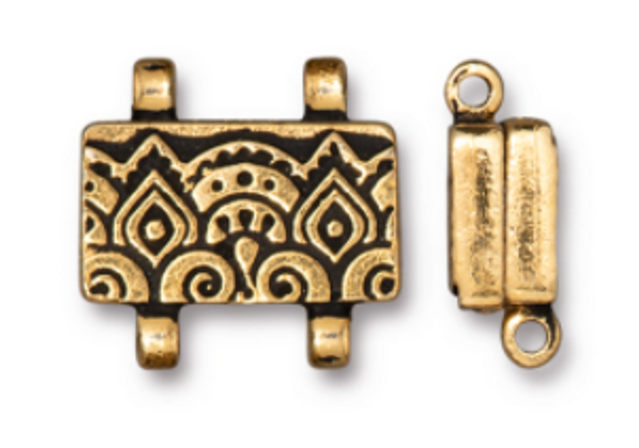 Gold Temple Stitch In Magnetic Clasp (1 Piece)