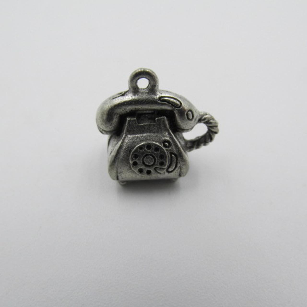 Telephone Pewter Charm