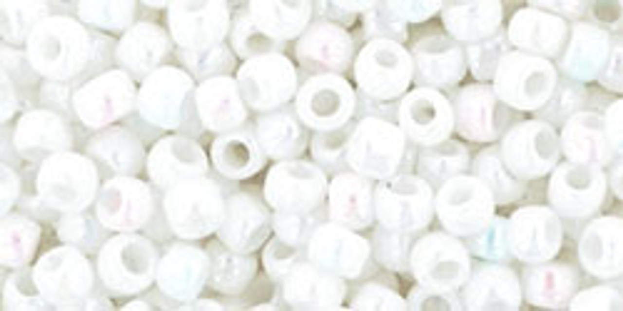 8/0 Toho Opaque RBW White Seed Beads (20 Grams) 08-401