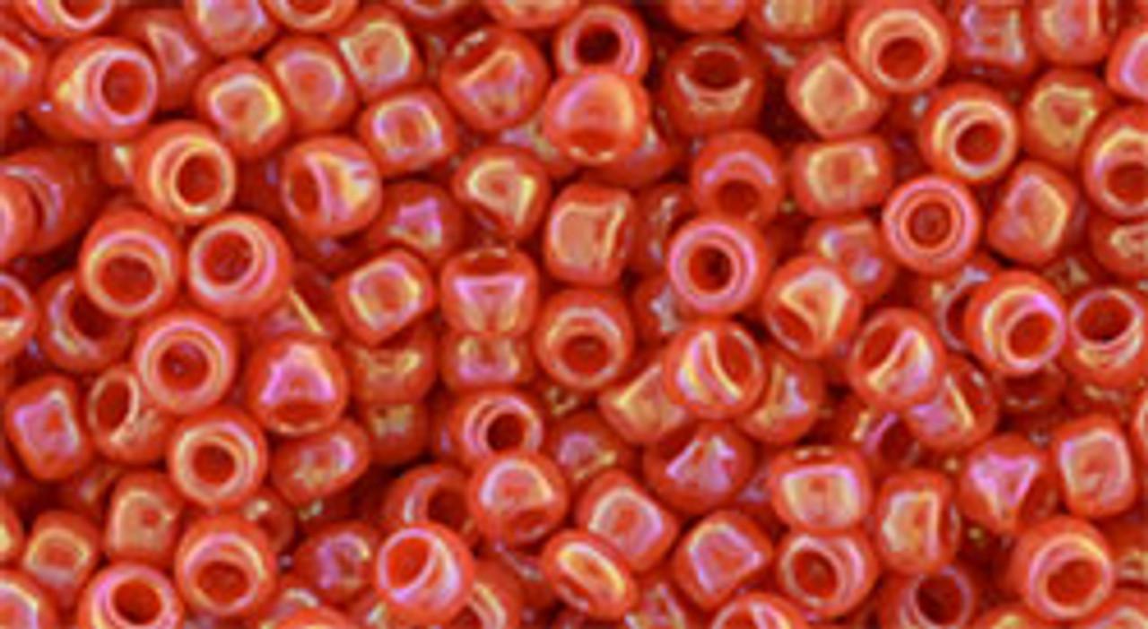 8/0 Toho Opaque RBW Pumpkin Seed Beads (22 Grams) 8-410