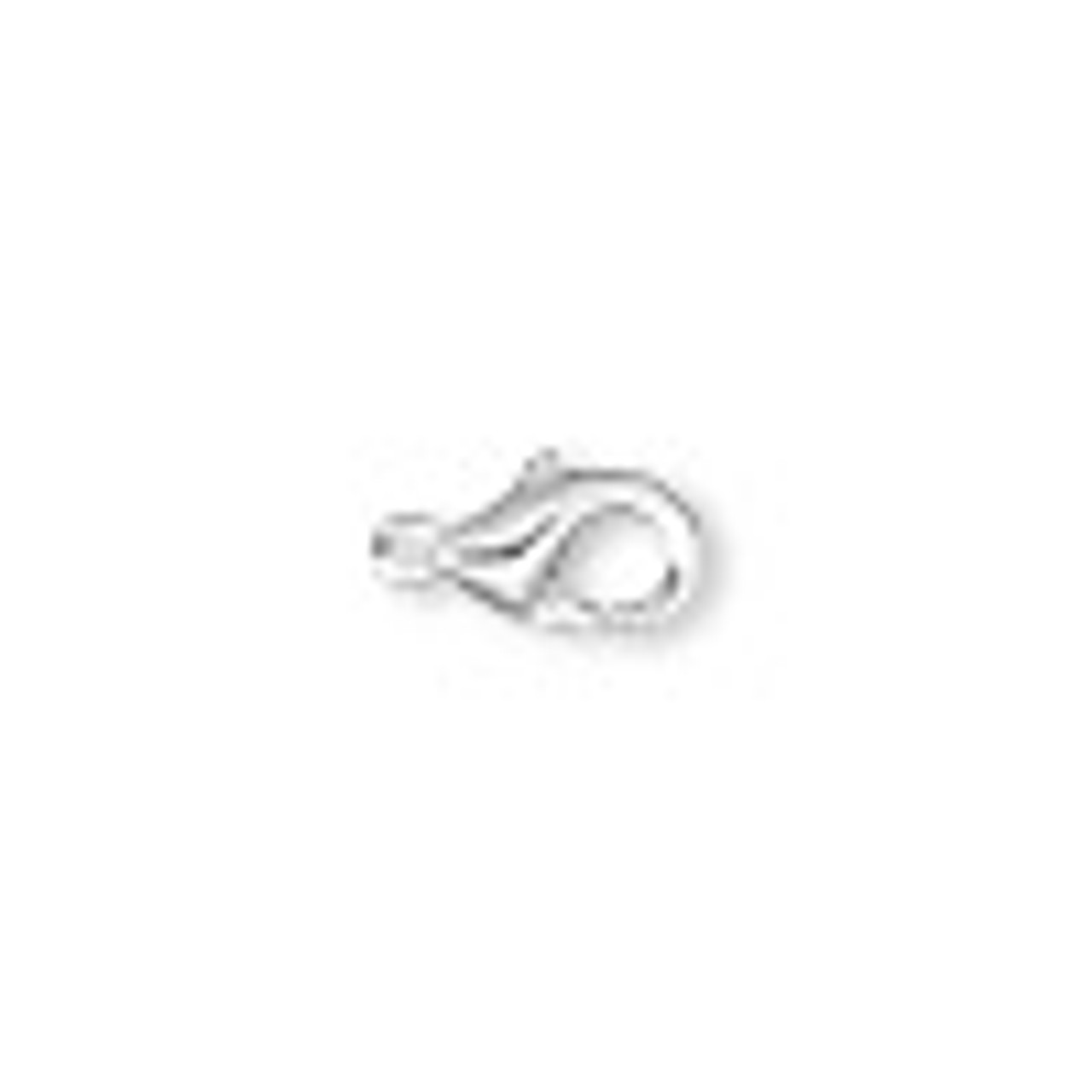 11x7mm Silver Plated Lobster Claw (6 Pack)
