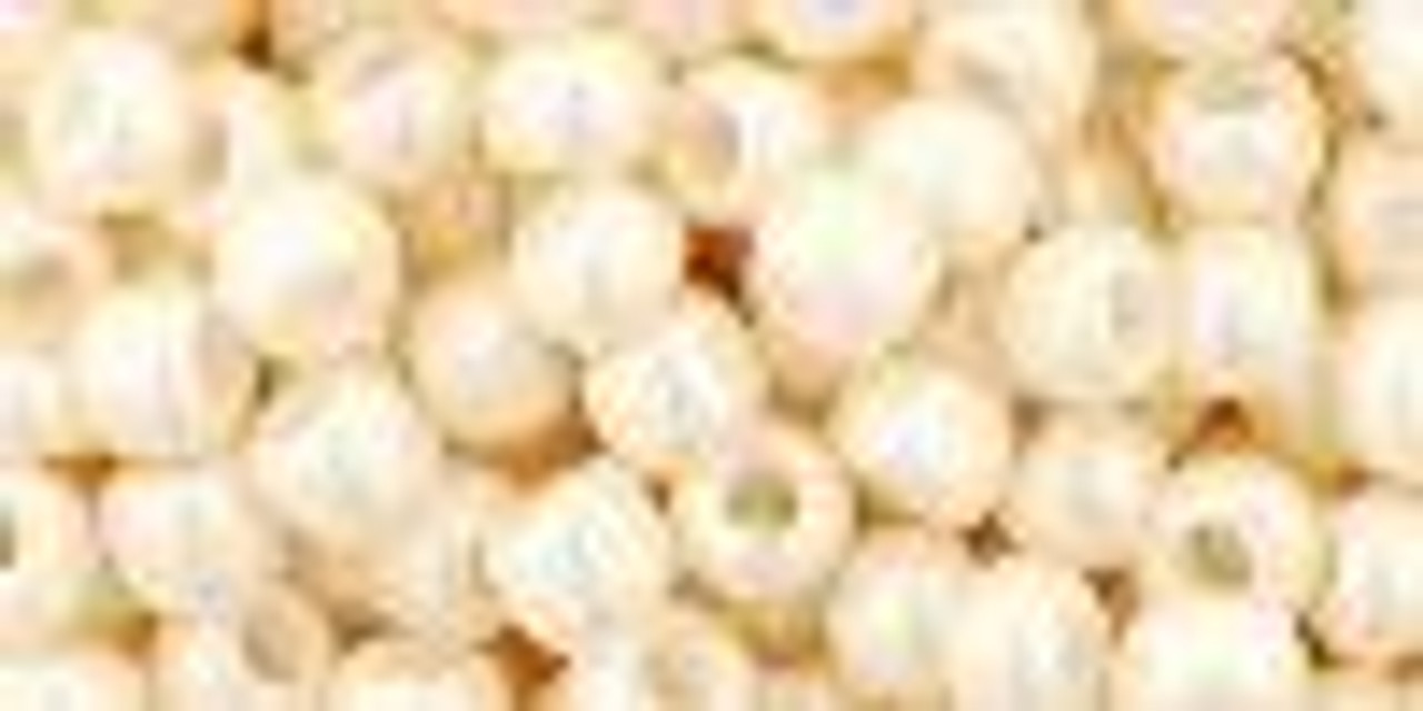 Opaque Luster Light Beige 6/0 Seed Beads (20 Grams) 06-123