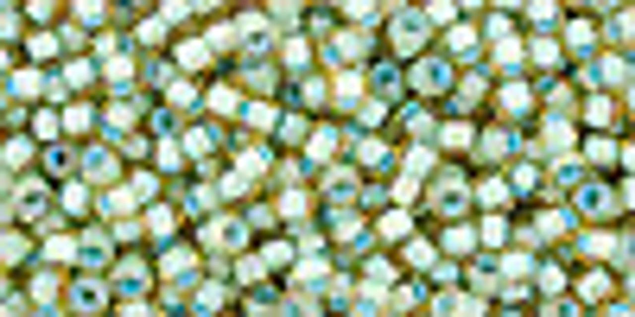 11/0 Inner Color Light Topaz / Seafoam Lined TOHO Seed Beads
