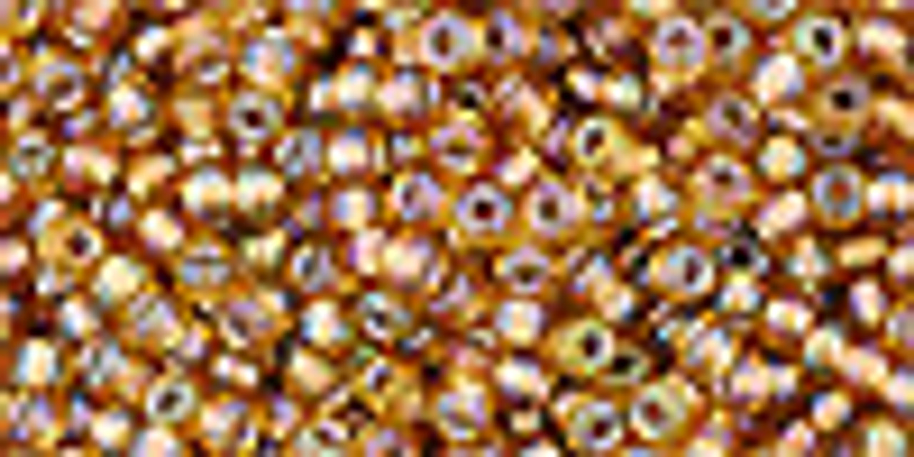 11/0 Gold Lined RBW Topaz  ToHo Seed Beads (20 Grams) 11-278