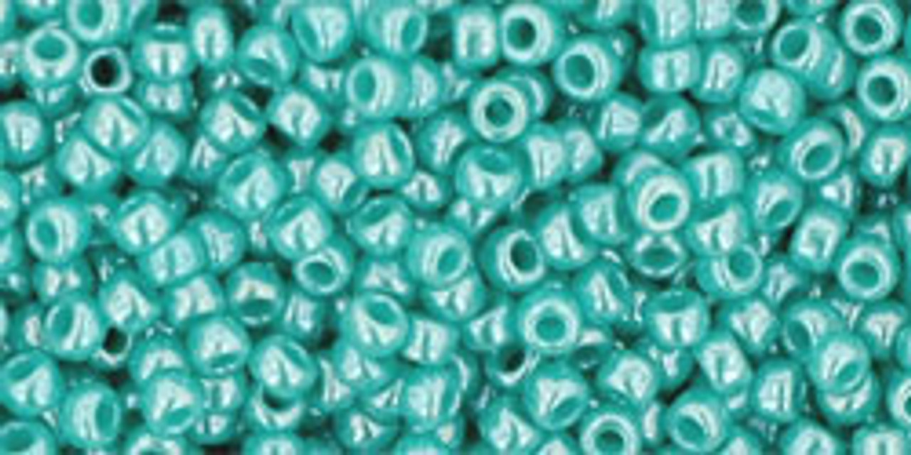 11/0 Opaque Lustered Turquoise TOHO Seed Beads (20 Grams) 11-132
