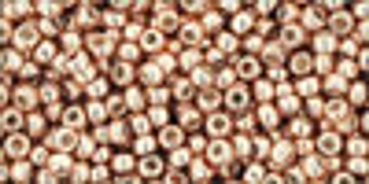 11/0 PF Galvanized Rose Gold Seed Beads Toho (20 Grams) 11-PF551