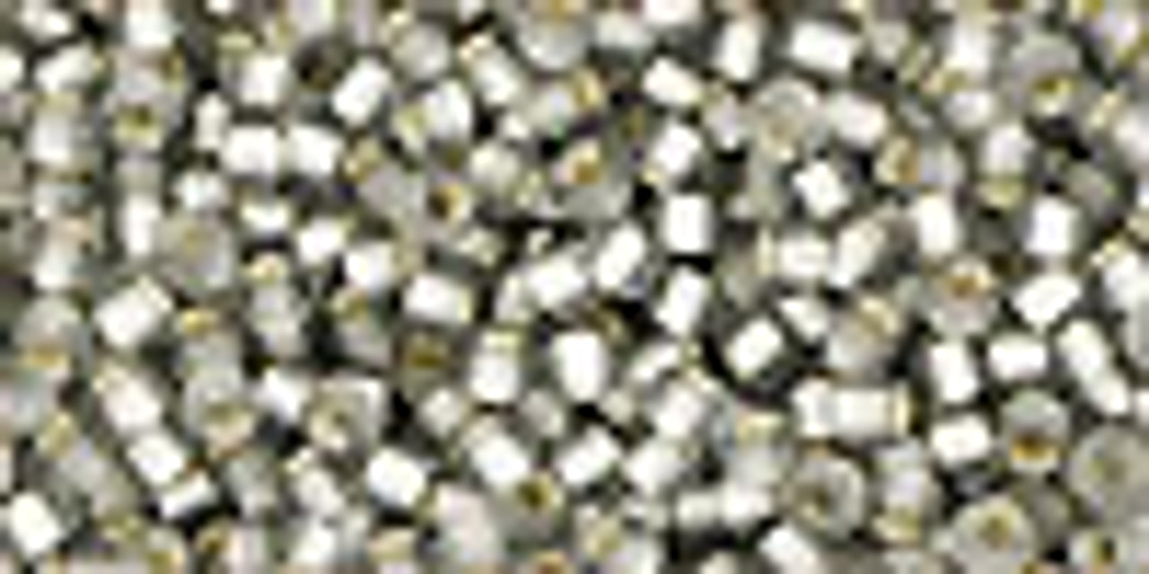 11/0 Silver Lined Frosted Black Diamond Seed Beads (20 Grams) 11-29AF