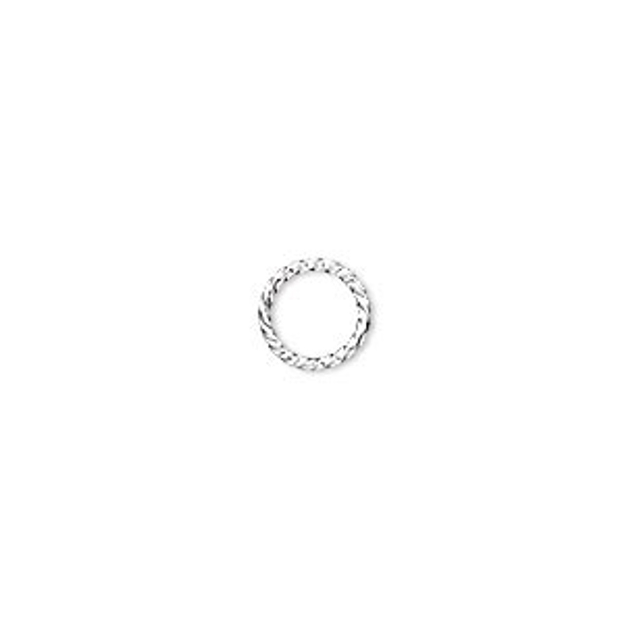 8mm Silver Plated Twisted Jump Ring (20 Ct.)