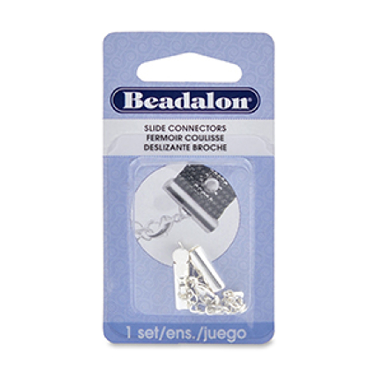 Beadalon Silver Plated 13mm Slide Connector 324B-060