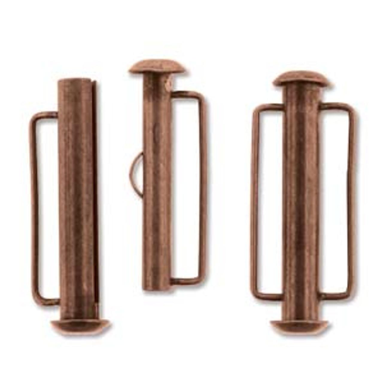 26.5mm Antique Copper Slide Bar Clasp (1 Piece)