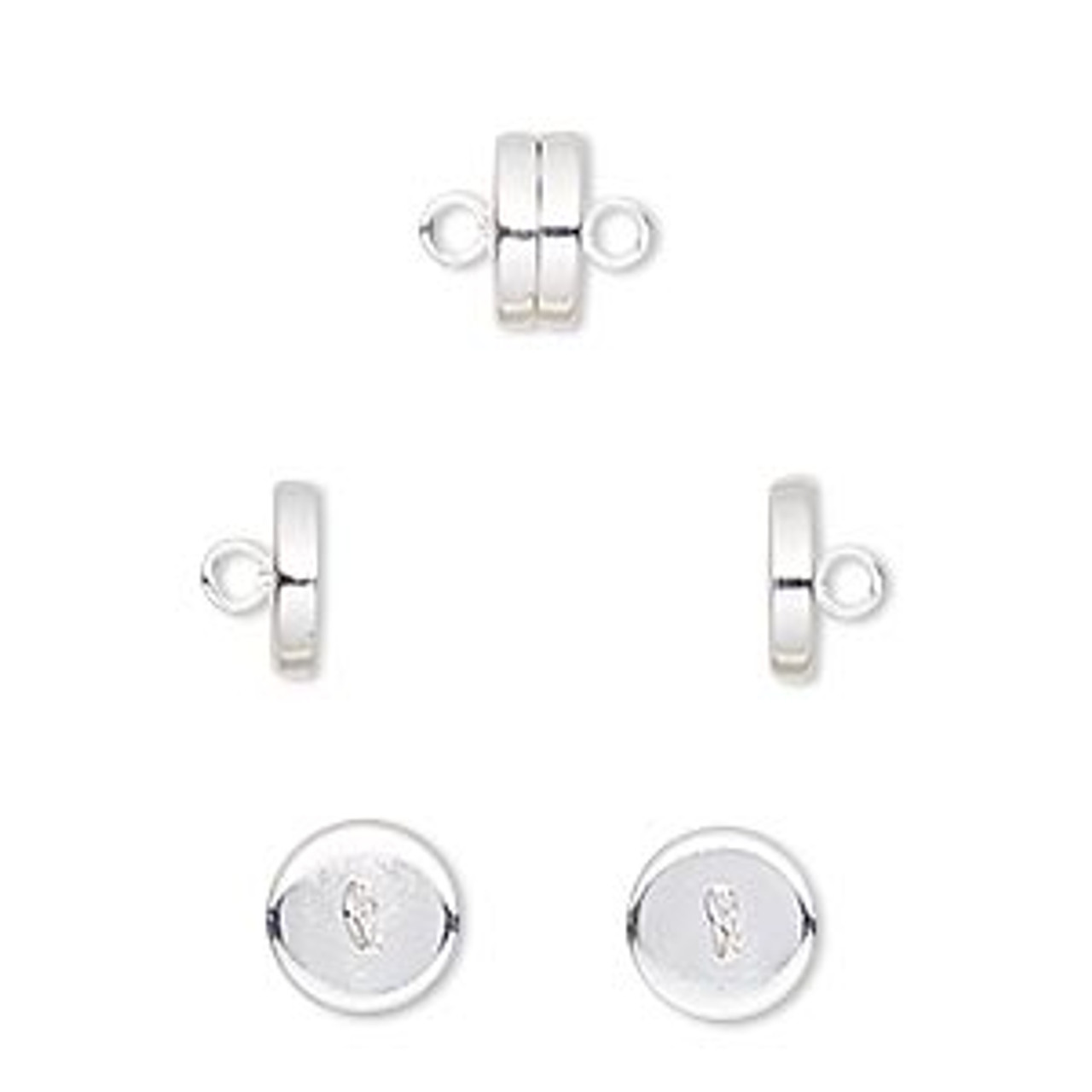 8x4mm Silver Plated Magnetic Clasp