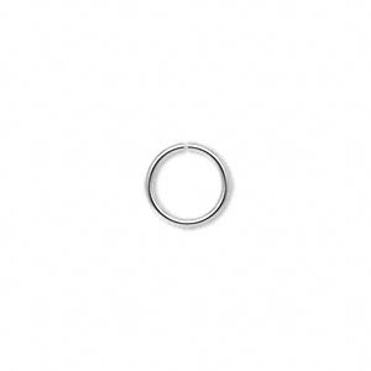 10mm 18ga Silver Plated Jump Ring 100pk