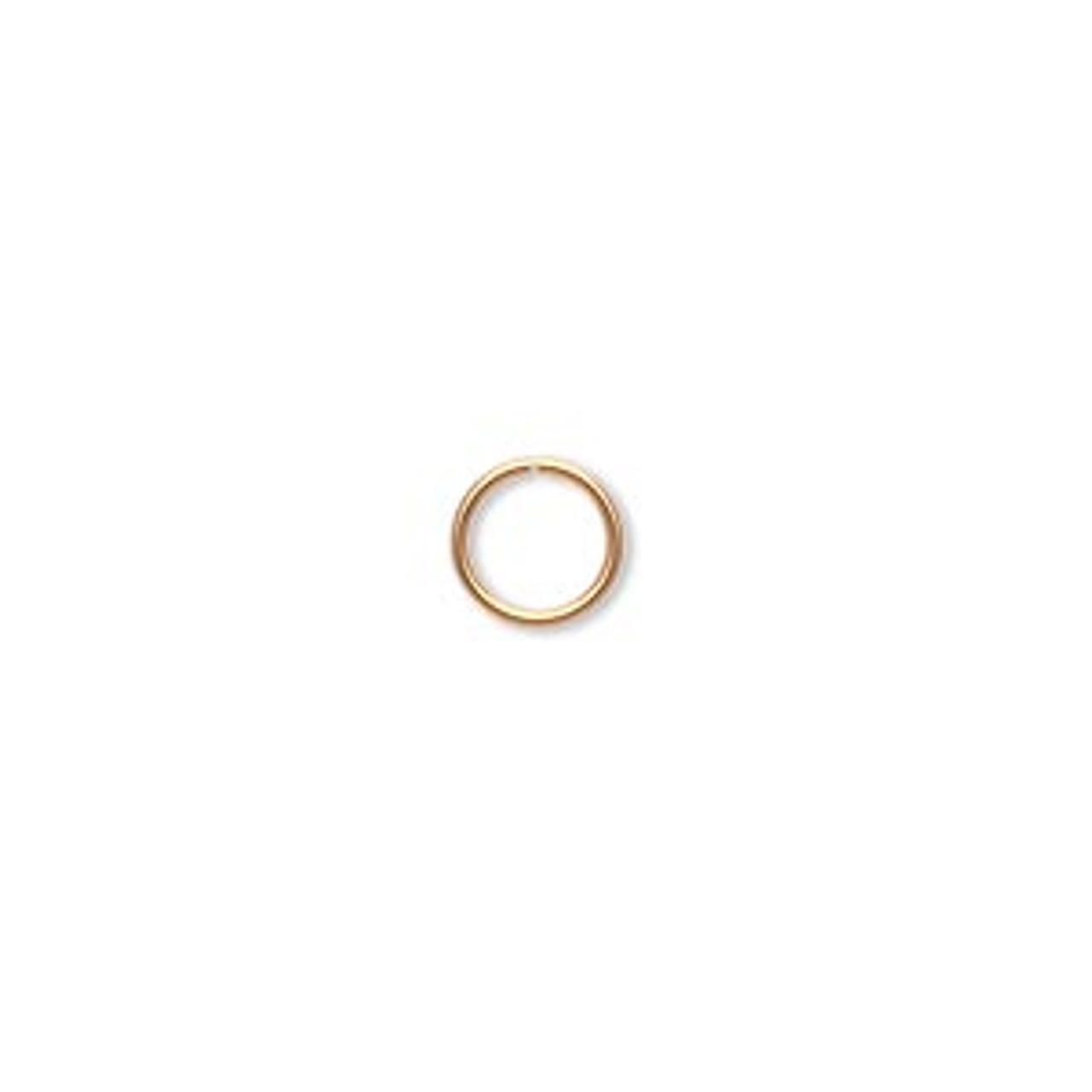 20ga. 7mm Gold Plated Jump Rings (100 Ct.)