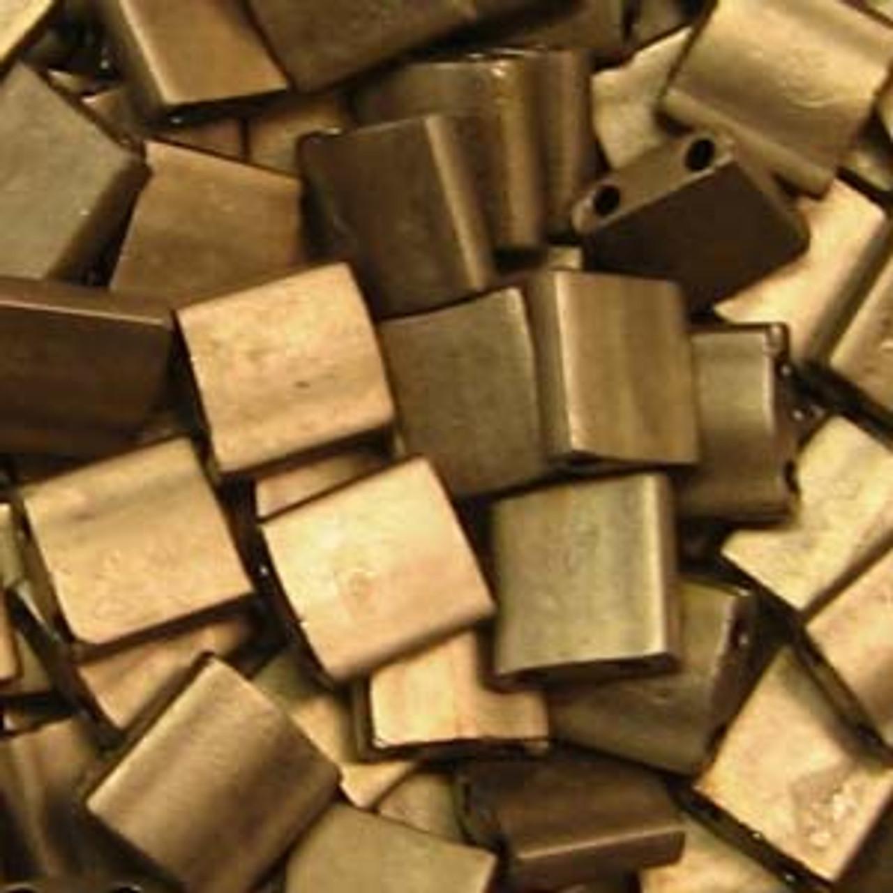 Matte Metallic Gold 5mm Tila Beads (TL2006)