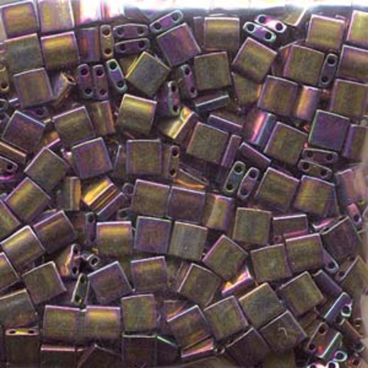 Metallic Purple Gold Iris 5mm Tila Beads (TL188)