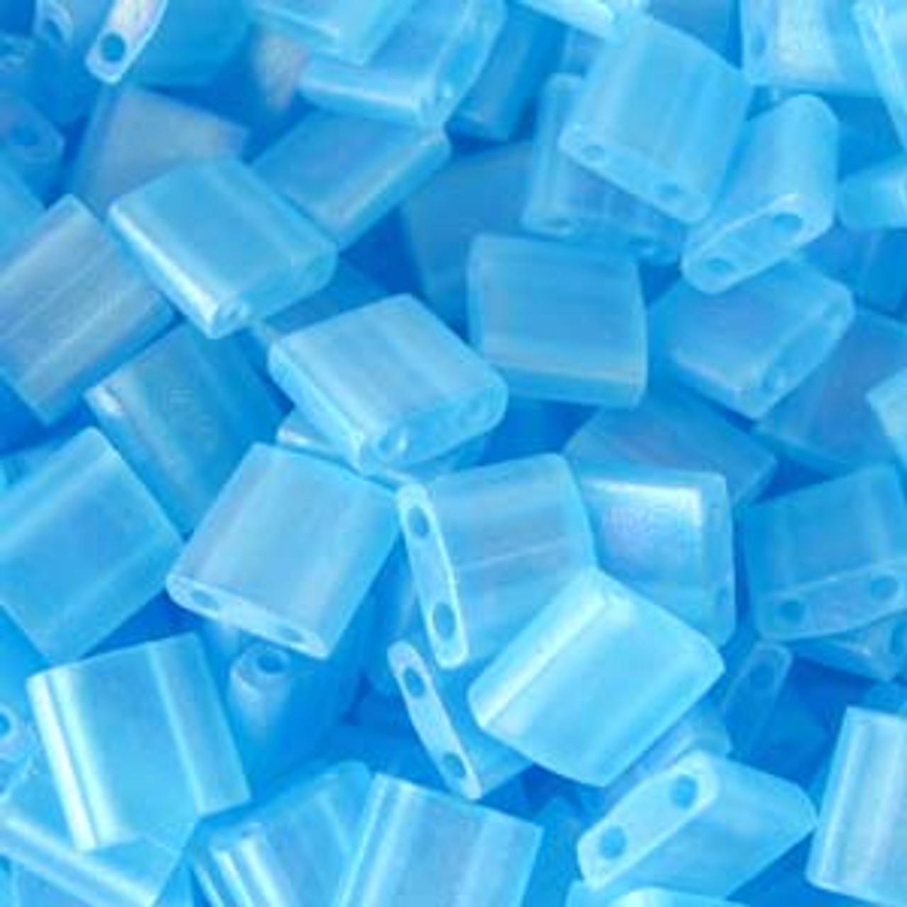 Matte Transparent Light Blue AB 5mm Tila Beads (TL148FR)