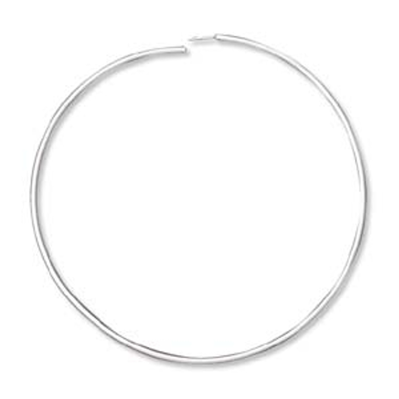 "1.5"" Silver Plated Endless Hoops (3 Pairs)"