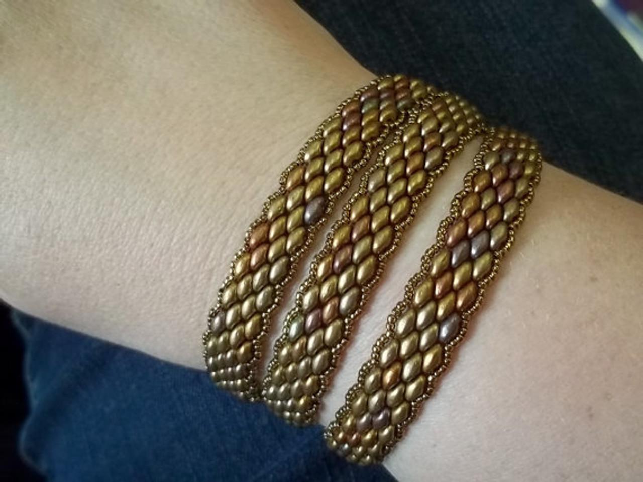 Super Duo Peyote Stitch Wrap Bracelet Tutorial Off The Beaded Path