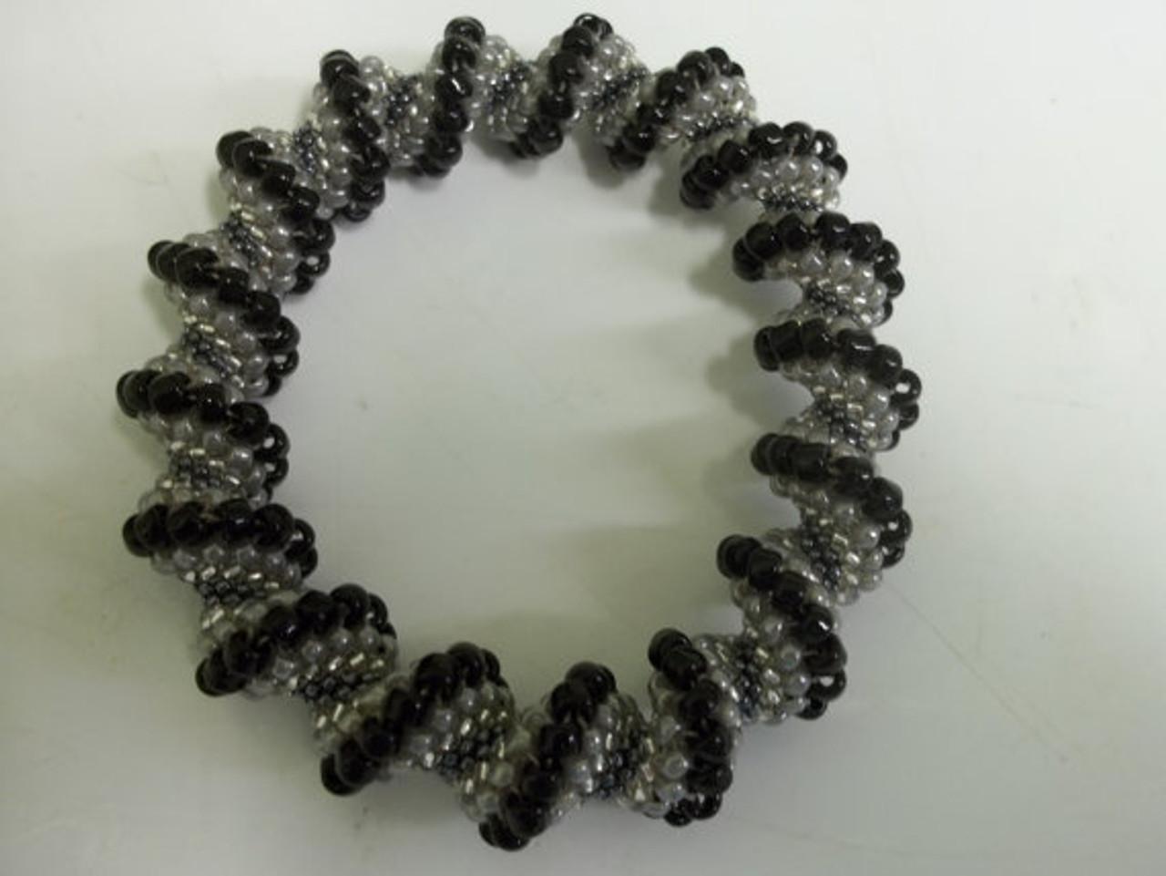 Spiral Peyote Stitch Bangle Bracelet Tutorial - INSTANT DOWNLOAD