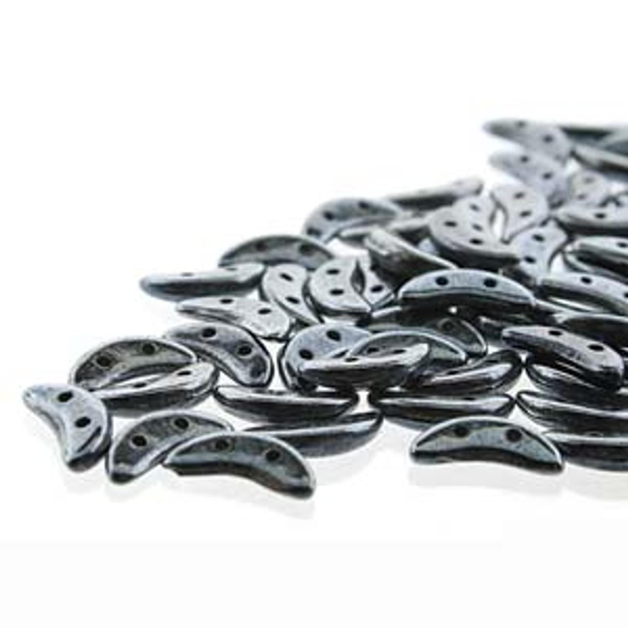 3x10mm Hematite Crescent Beads