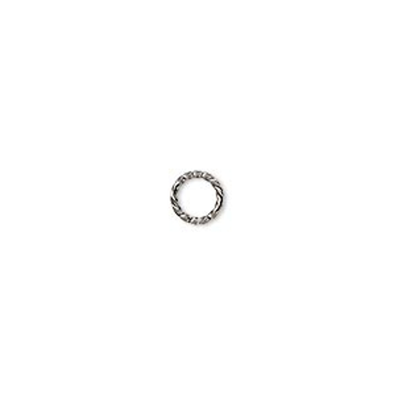 6mm Gunmetal Twisted Jump Rings (20 Pack)