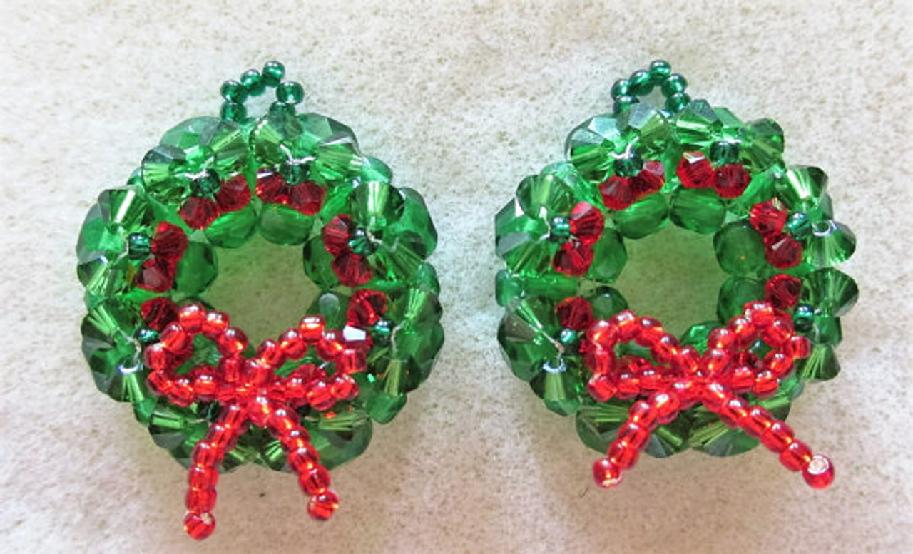 Christmas Wreath Earrings Kit