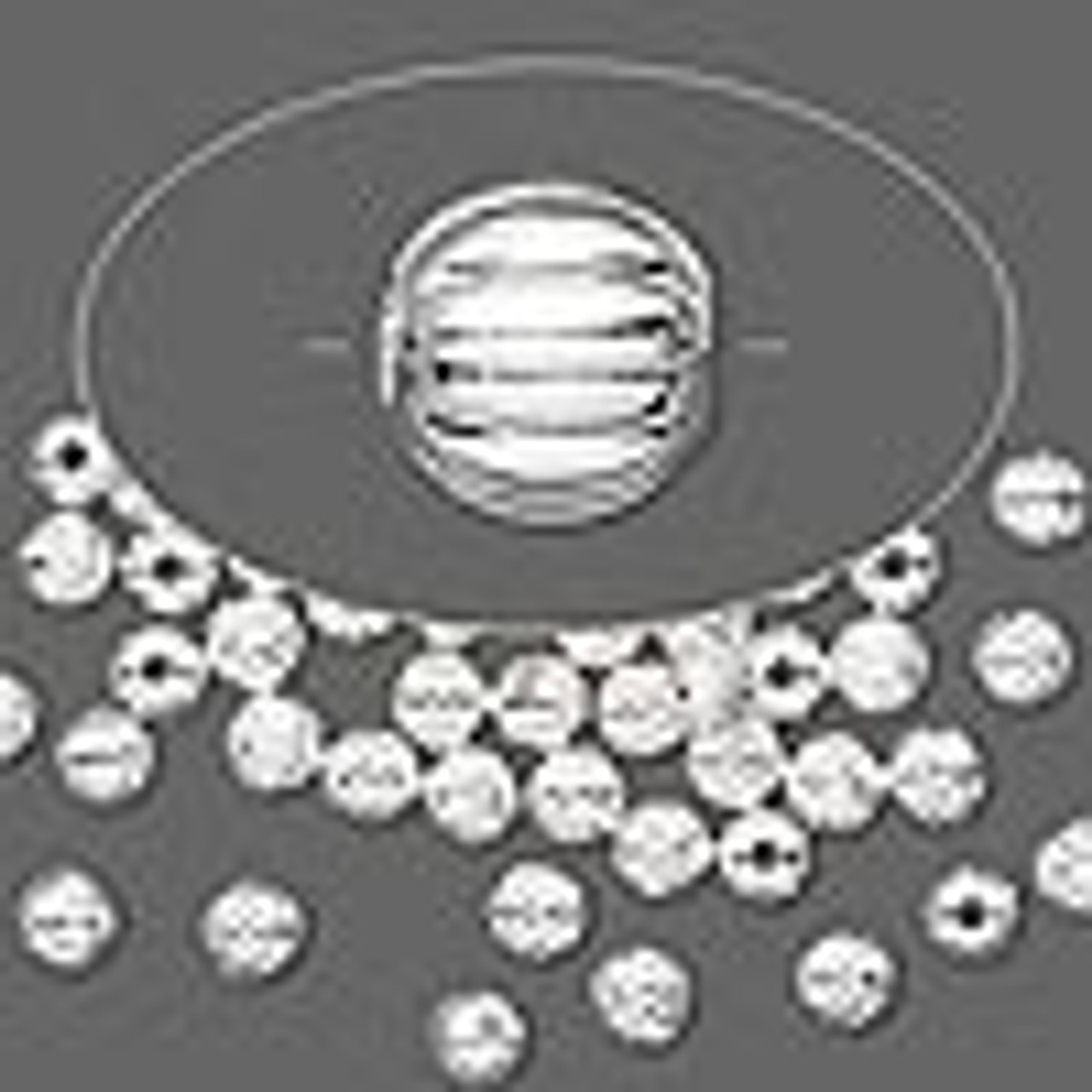 4mm Corrugated Rounds Silver Plated 50pk