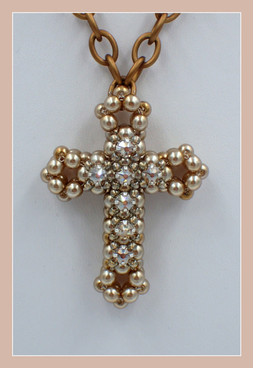 3D Cross with Montees Pendant Tutorial