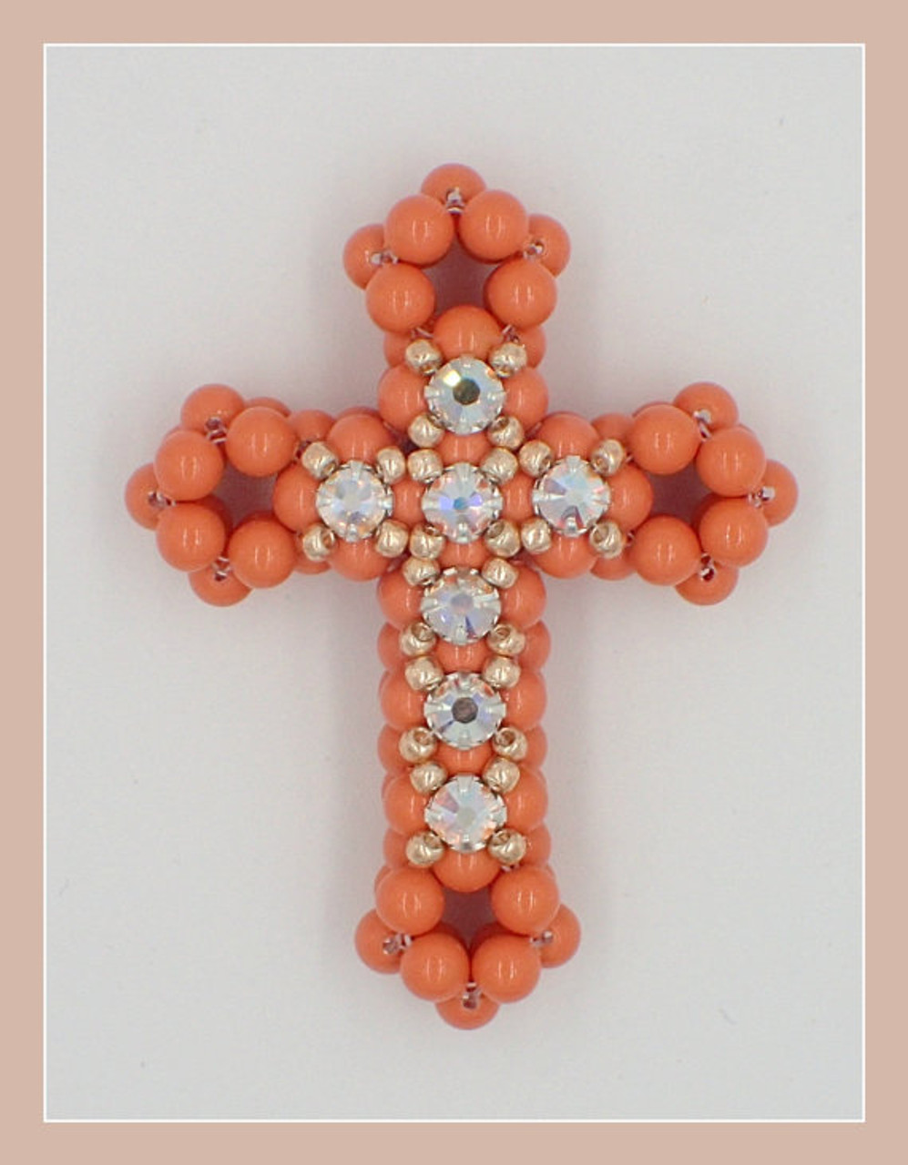 3D Cross with Montees Pendant Tutorial