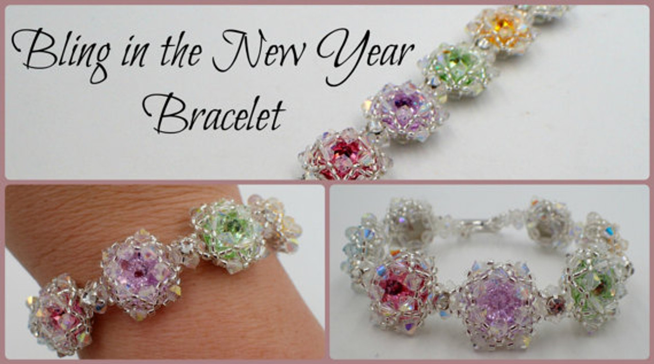 Bling in the New Year Bracelet Tutorial - INSTANT DOWNLOAD