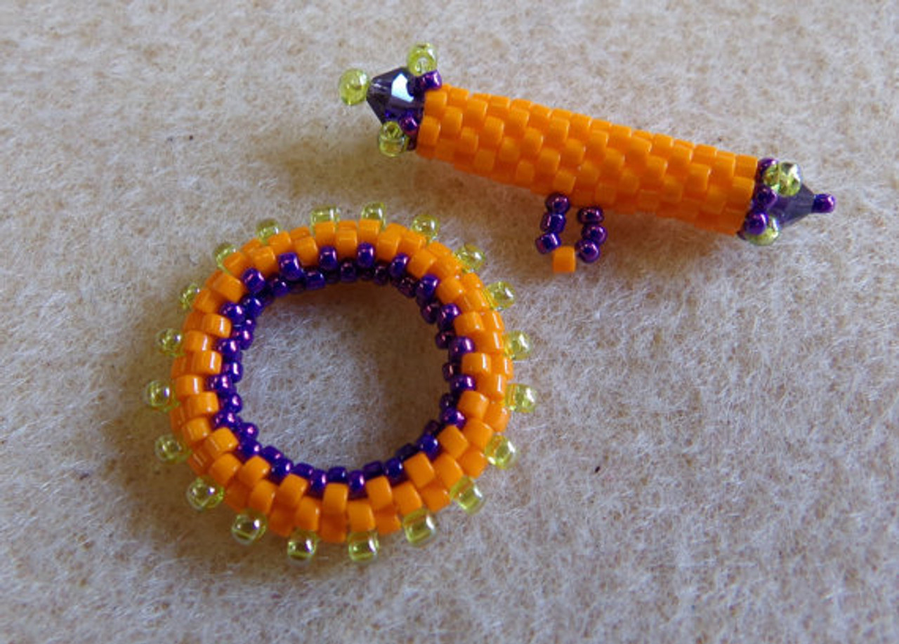 Beaded Peyote Toggle INSTANT DOWNLOAD Tutorial
