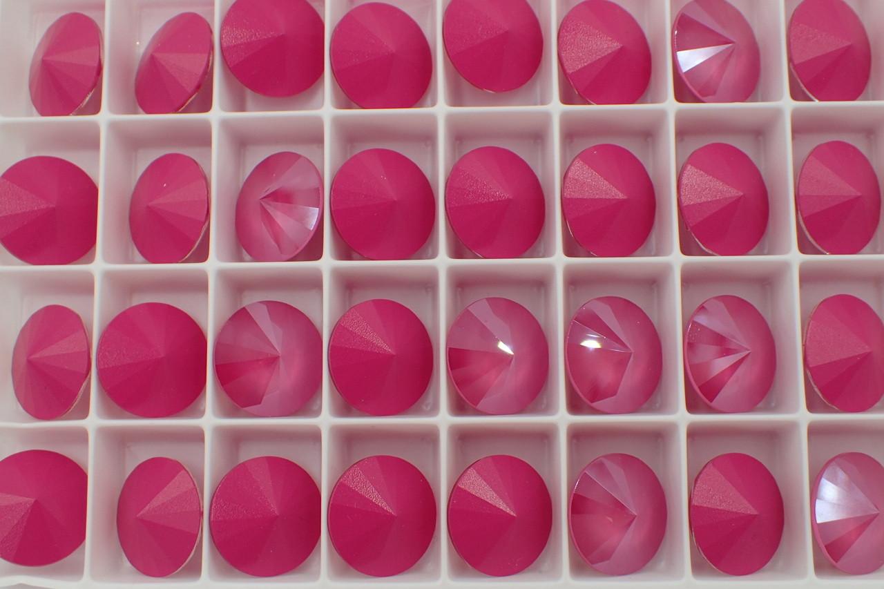 14mm Peony Pink Swarovski Rivoli
