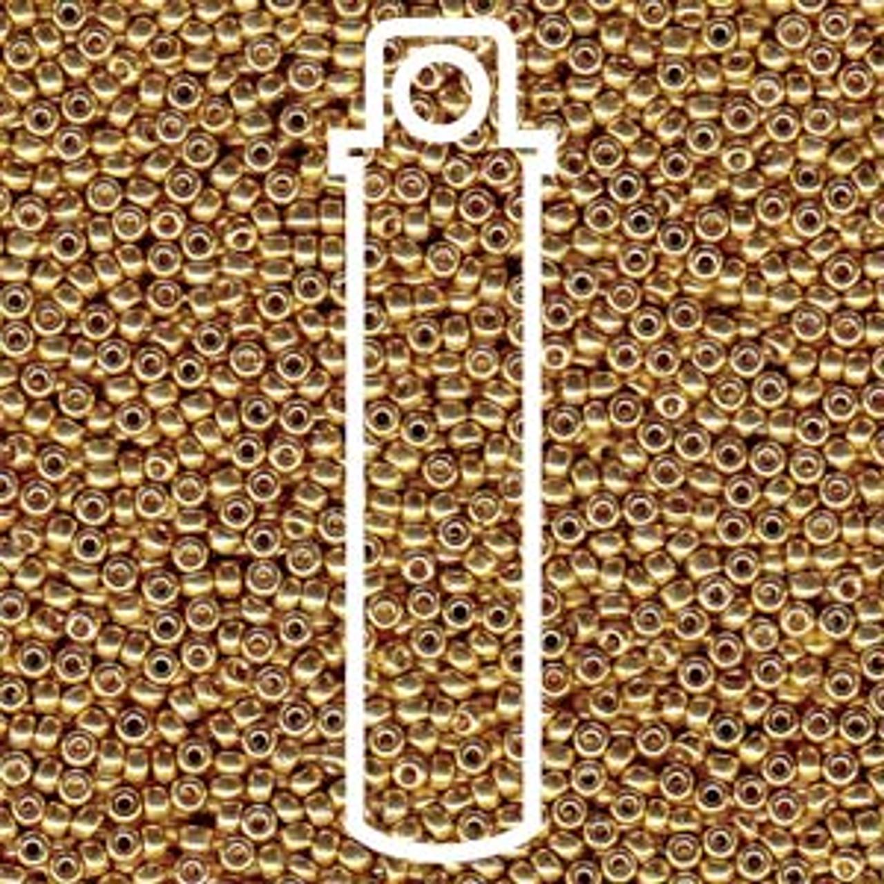 15/0 Duracoat Galvanized Gold Miyuki Seed Beads (8 Grams) 15-94202