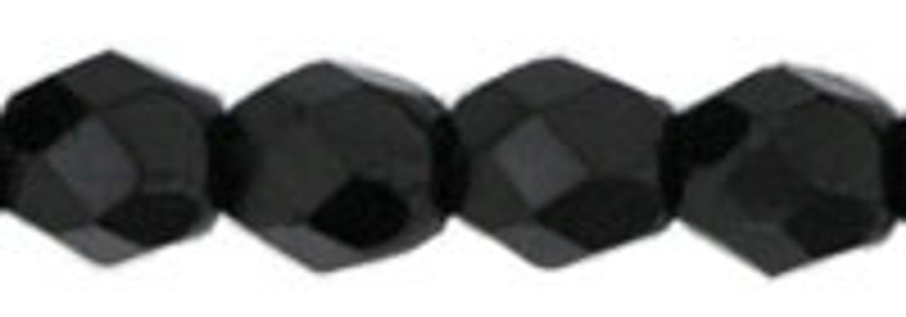 3mm Jet Fire Polish Beads