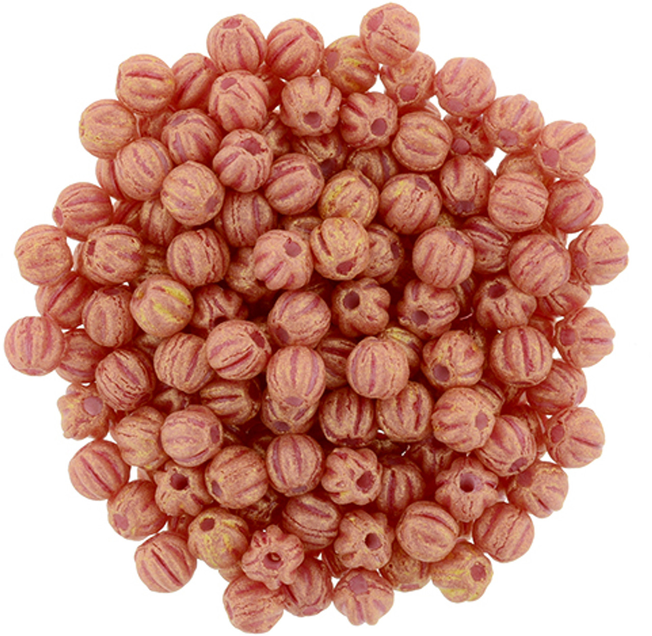 3mm Melon - Pacifica Strawberry (100 Beads) 03-PS1002